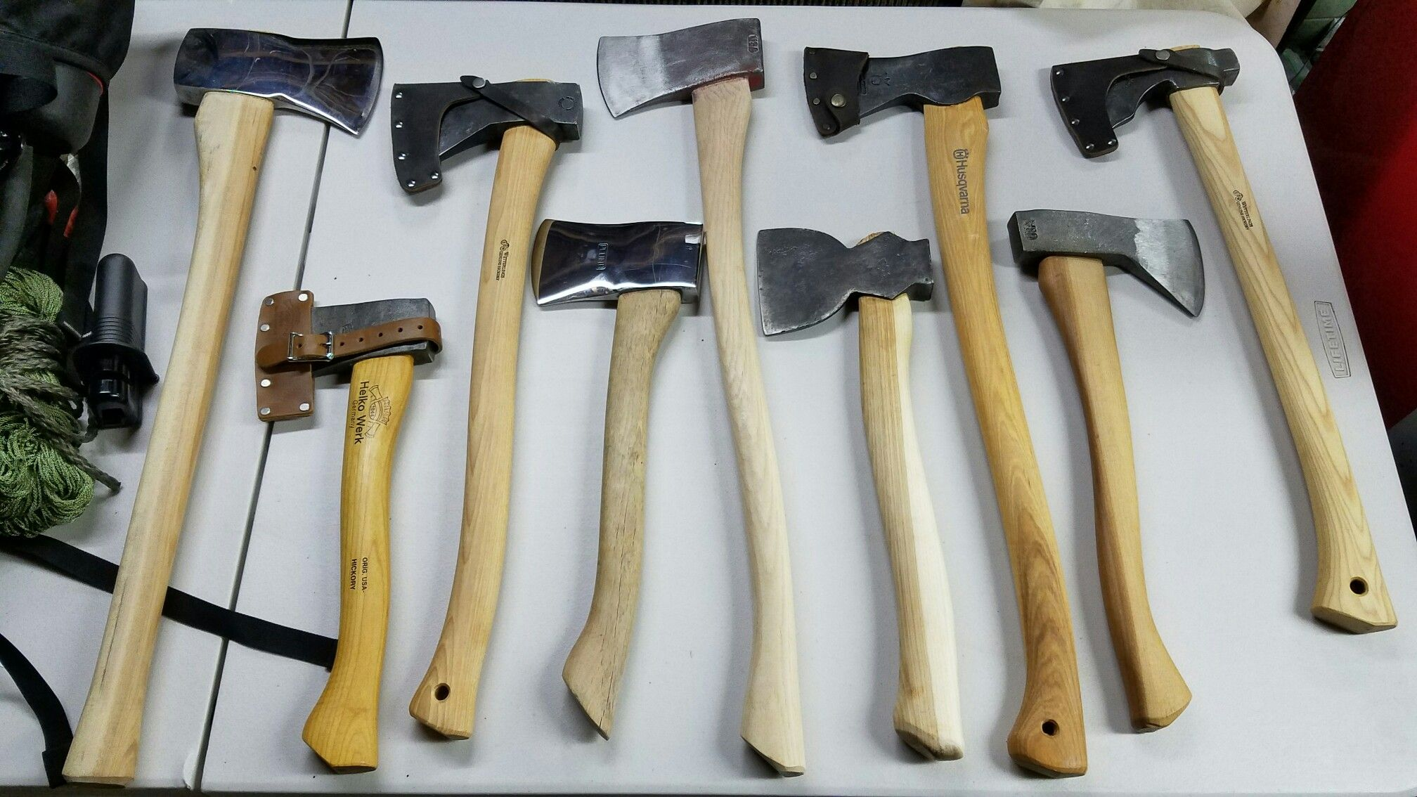 From Left Vintage Velvicut Felling Axe With Full Polish And Miners