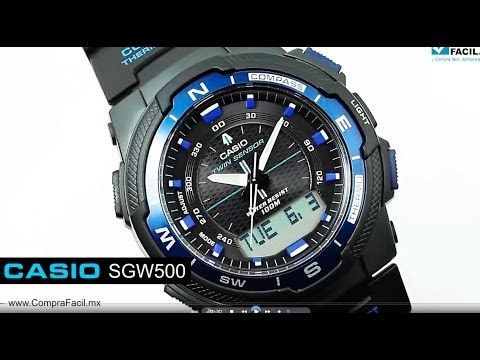 3829006714f9 Casio SGW500H Analog Digital Compass Thermometer Multi Function Watch -  YouTube Reloj Casio