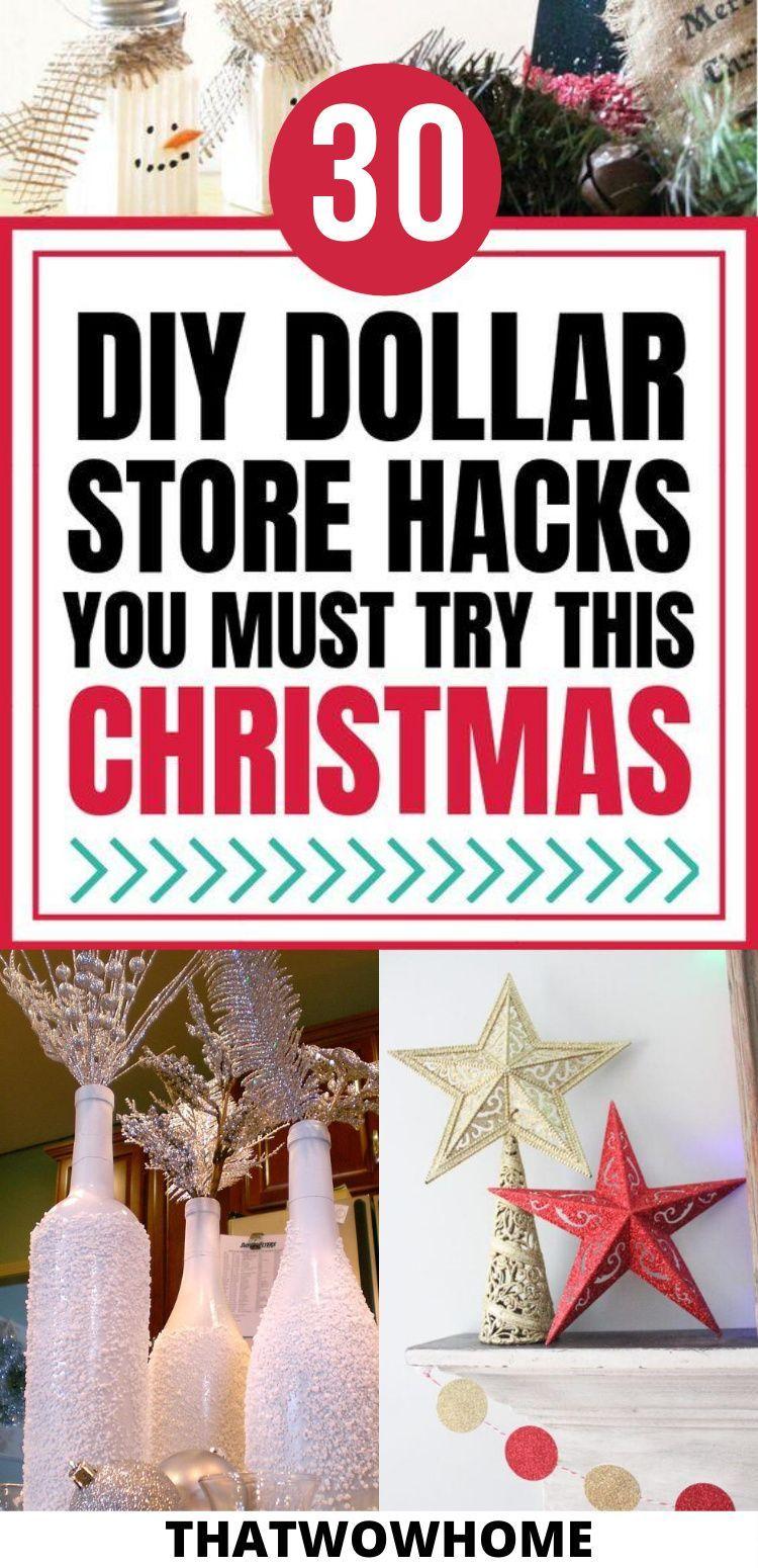 31 Stunning Dollar Store Hacks For Christmas Decor -   19 diy christmas decorations dollar store easy ideas