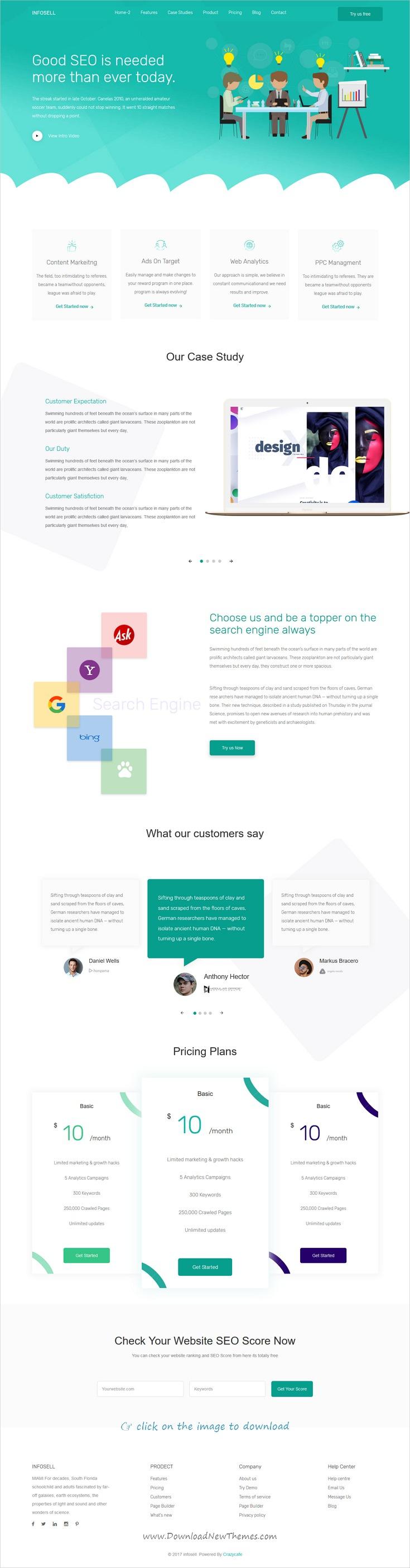 Infosell - Marketing HTML5 Template | Template