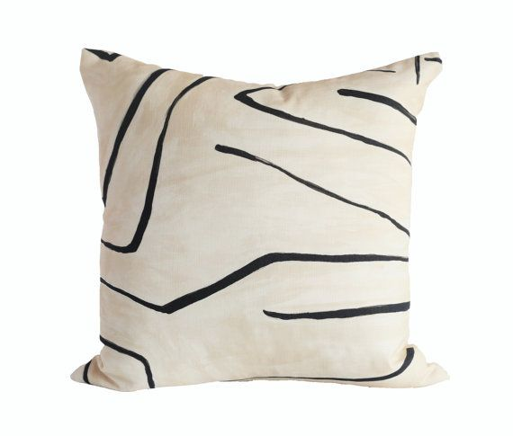 Graffito LinenOnyx Designer Pillow Covers Made To Order Kelly Stunning How To Clean Pillow Covers