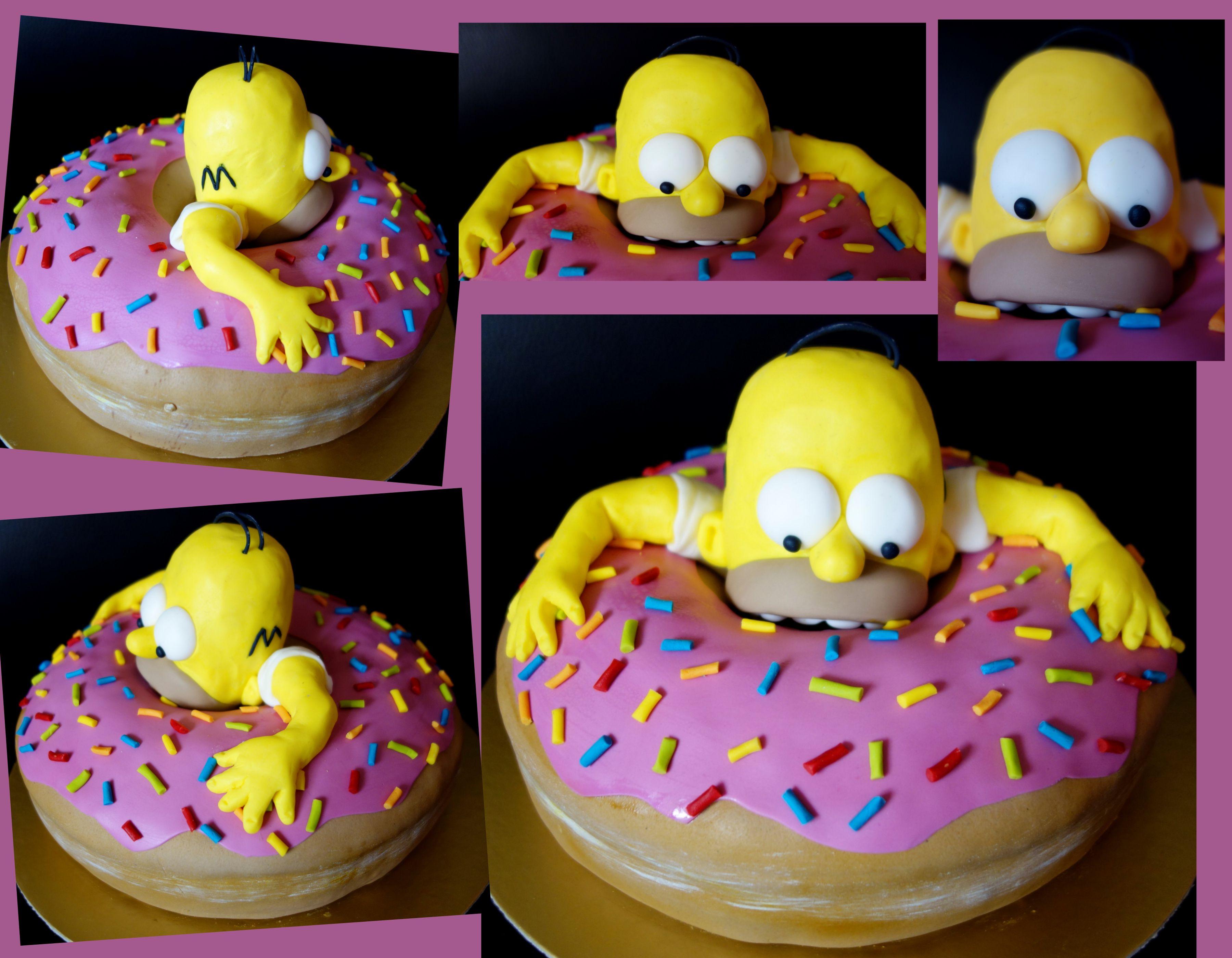 Torta cake homer simpson kslavka pinterest - Simpson anniversaire ...