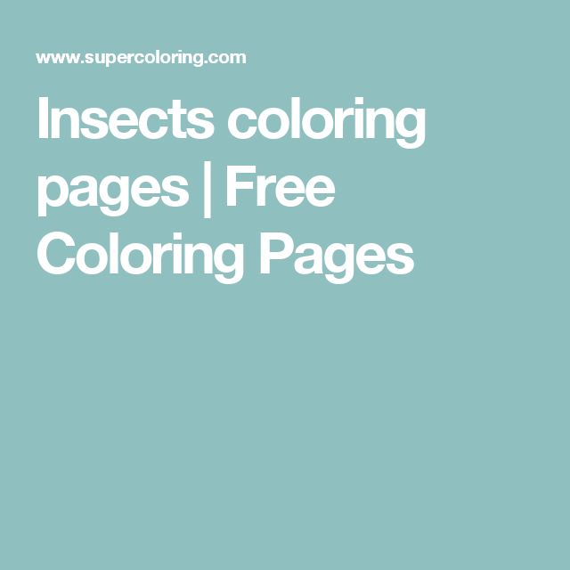 Insects coloring pages | Free Coloring Pages