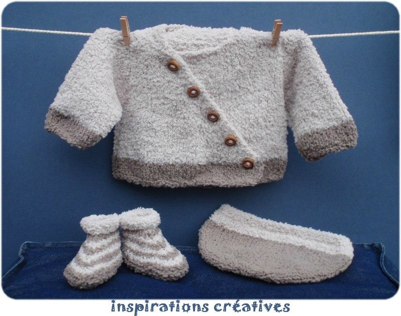 modele tricot layette simple