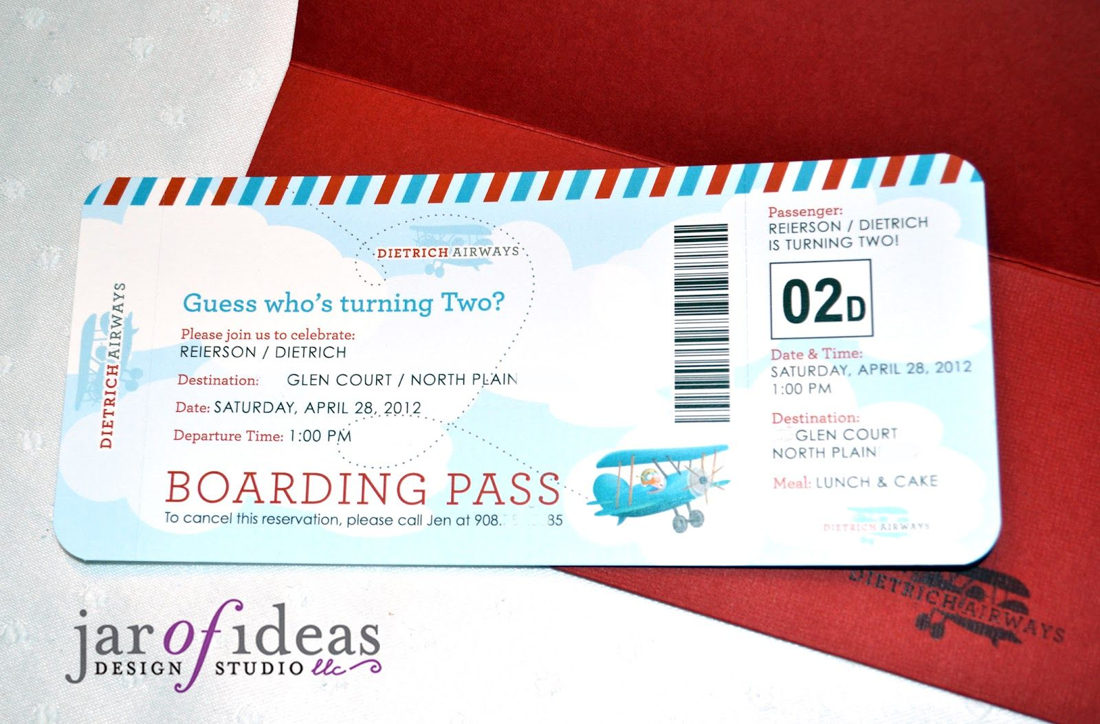 Jar of Ideas: Airplane themed 2nd Birthday Invitation | Airplane ...