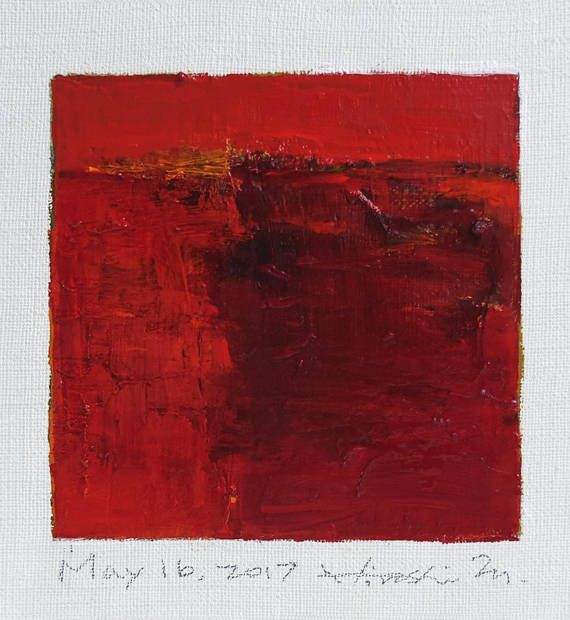 May 16 2017  Original Abstract Oil Painting  9x9 painting