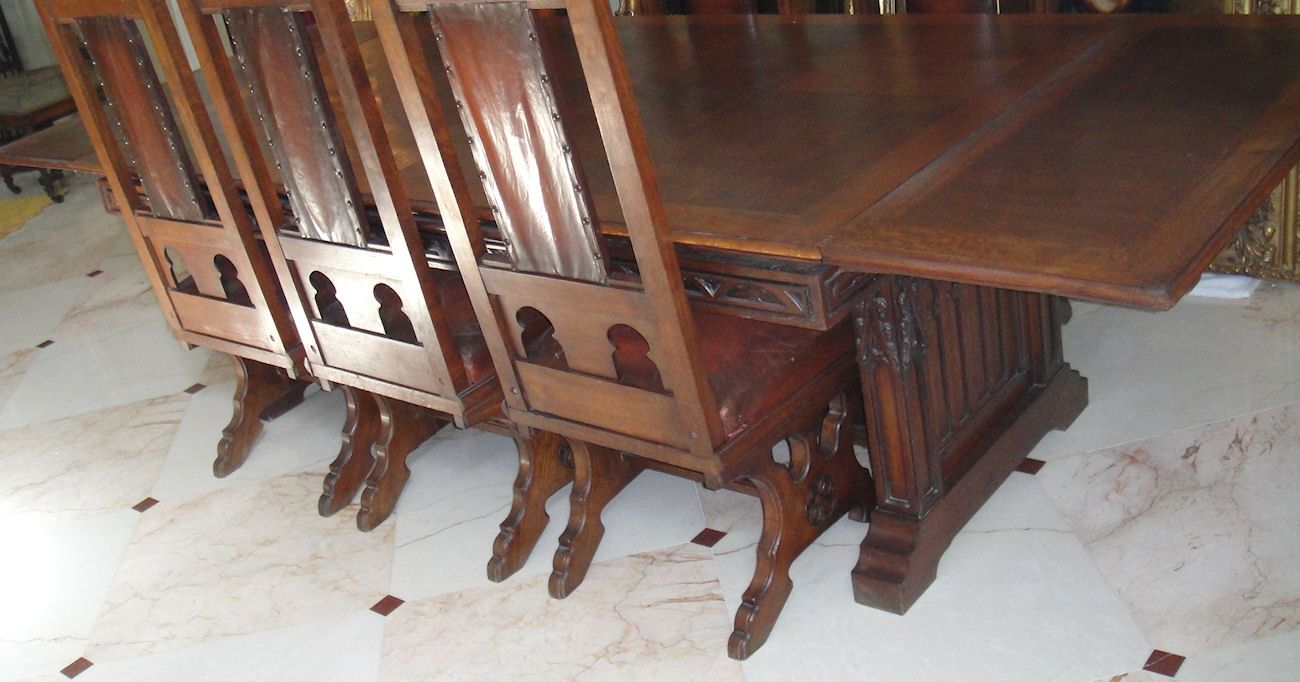 Antique Dining Chairs Ebay French Gothic Carved Room Table