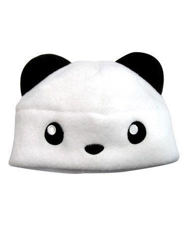 Love this White Panda Fleece Beanie on #zulily! #zulilyfinds