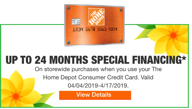 Up To 24 Months Special Financing Home Depot Credit Card Offers Room Remodeling
