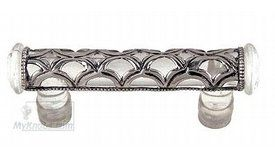 Charming Atlas Homewares   Cabinet Hardware   Tangeres 3 Inch Centers Boutique  Moorish Pull In Crystal Glass