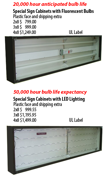 Letterbank Basic Light Box Cabinets Light Box Fluorescent Bulb Steel Lighting