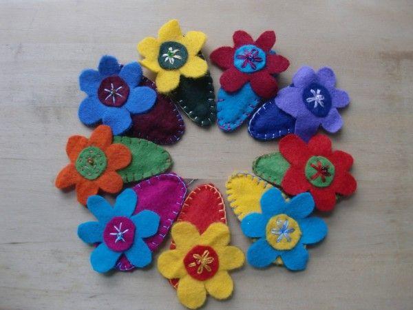 Filzhaarspangen mit Kindern nähen - Handmade Kultur