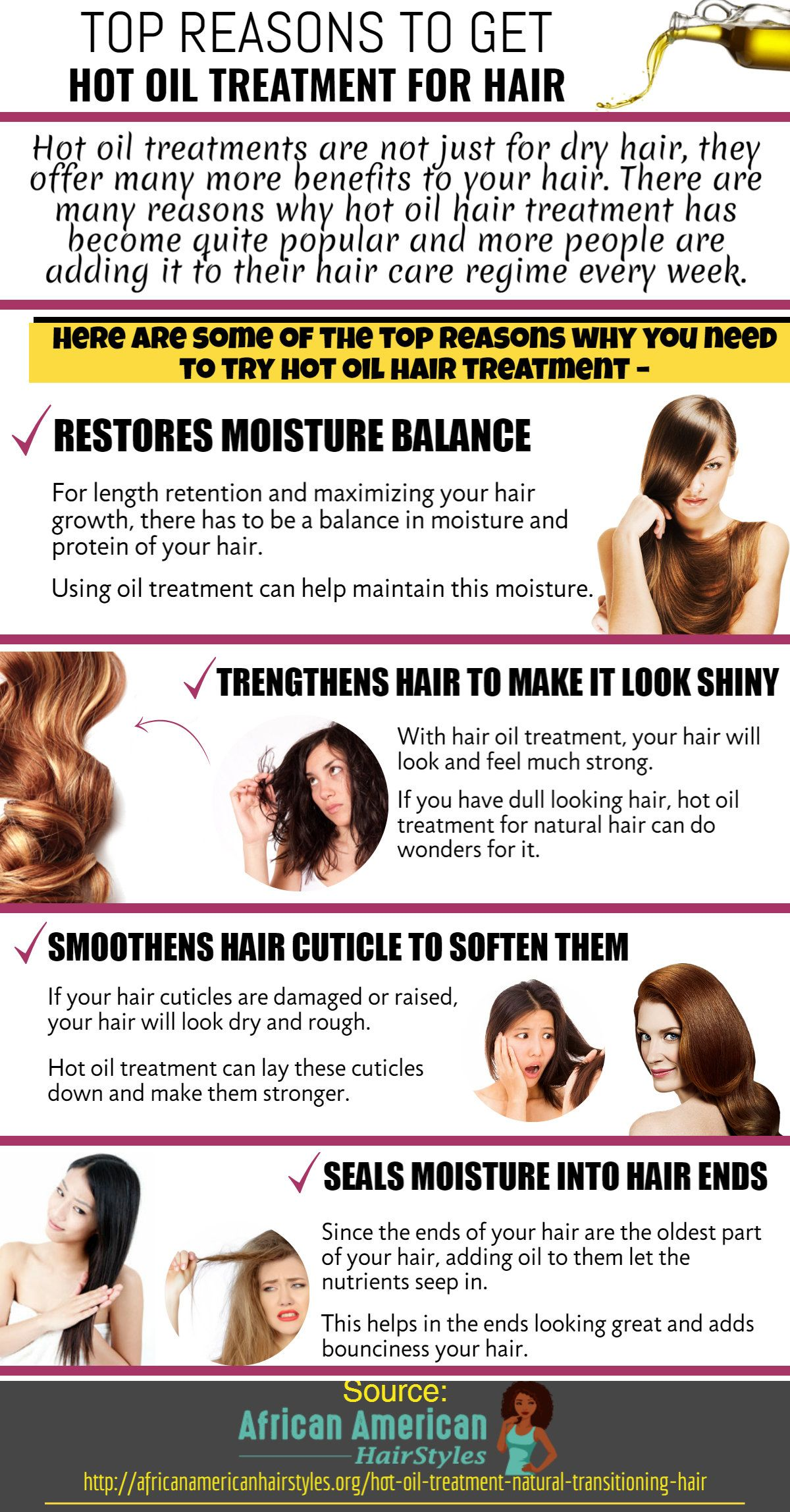 You Should Use Hot Oil Treatment For Hair Once Every Week After Choosing The Specific Oil That Can Recti Hair Hot Oil Oil Treatment For Hair Mexican Hairstyles