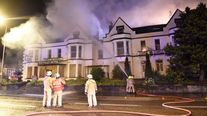 Waverley Hotel fire