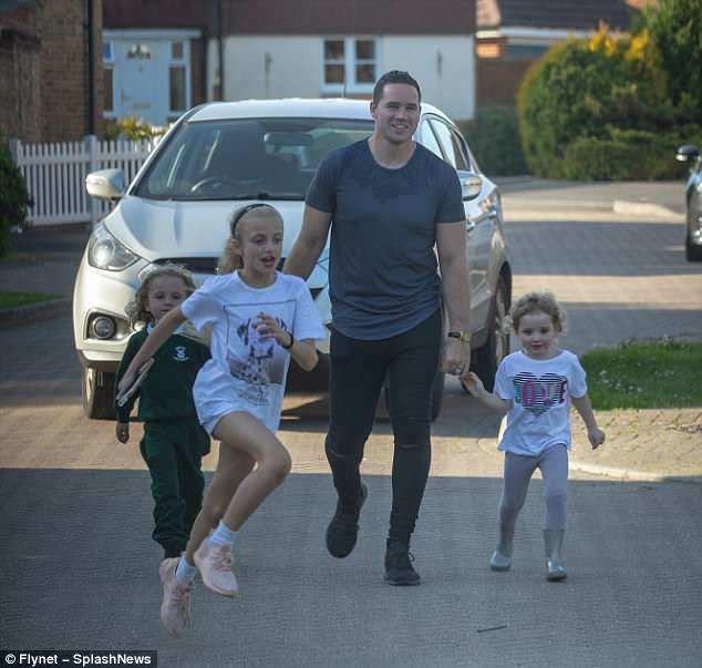 Kieran Hayler is left on babysitting duties after Katie Price jets
