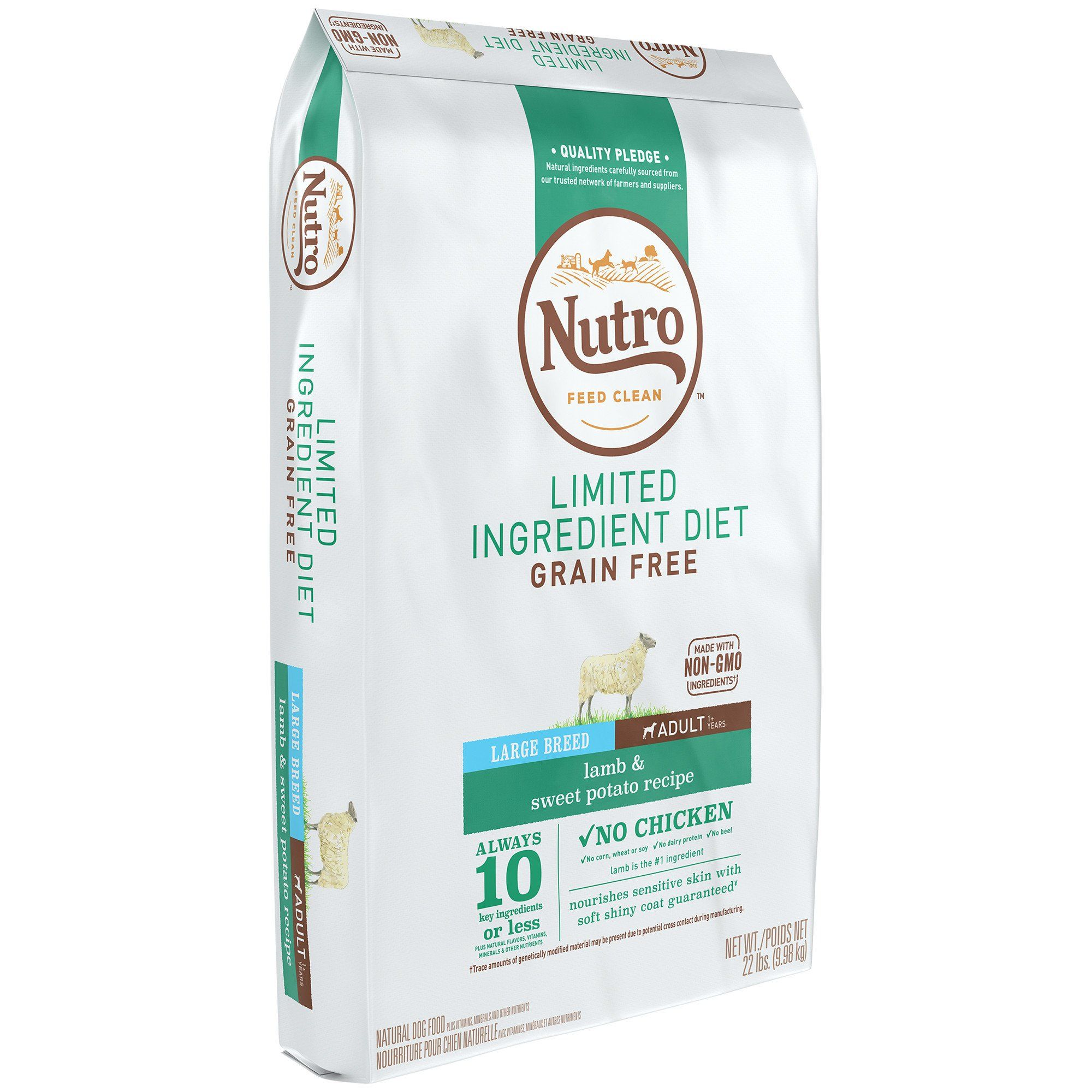 Nutro Limited Ingredient Diet Lamb Sweet Potato Recipe Large
