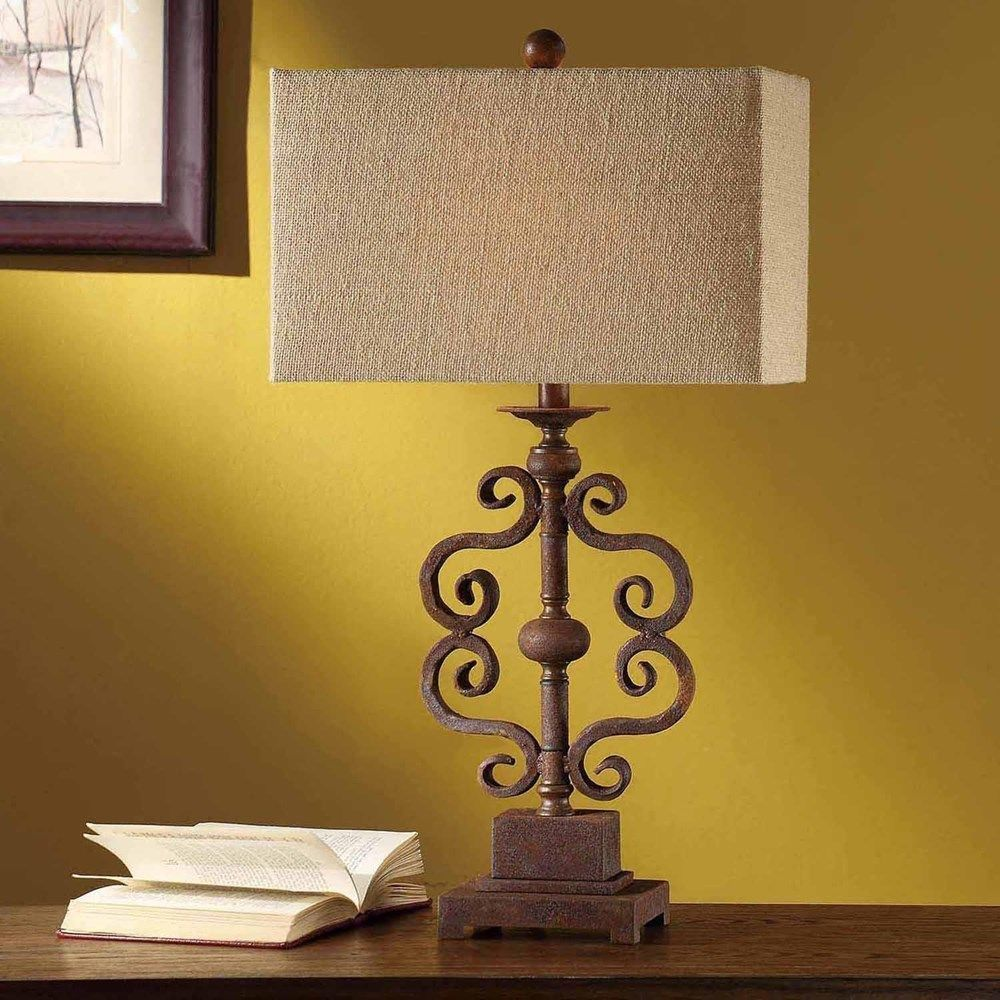 Avenue Table Crestview Lamp CVAER555 Metal Rustic Metal Finish Set Of 2  Only For $299