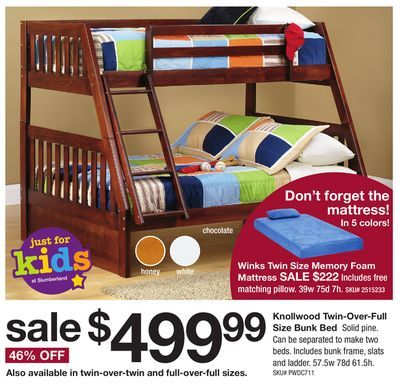 Shared From Flipp Knollwood Twin Over Full Size Bunk Bed In The