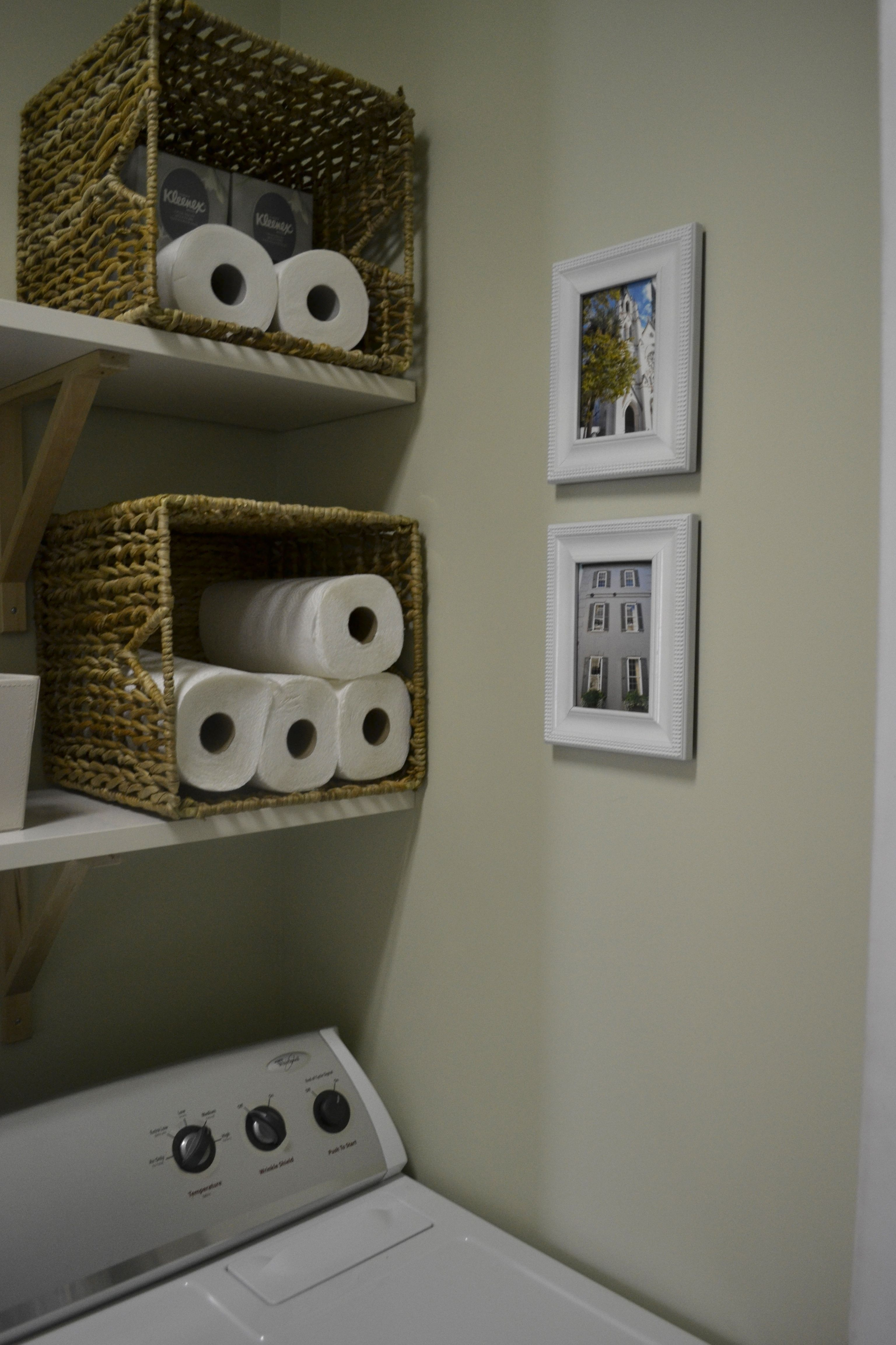 Paper Towel Toilet Paper Pretty Storage Organizing Pinterest - Towel storage bins for small bathroom ideas