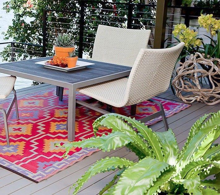 Orange Plastic Outdoor Rug For Patio