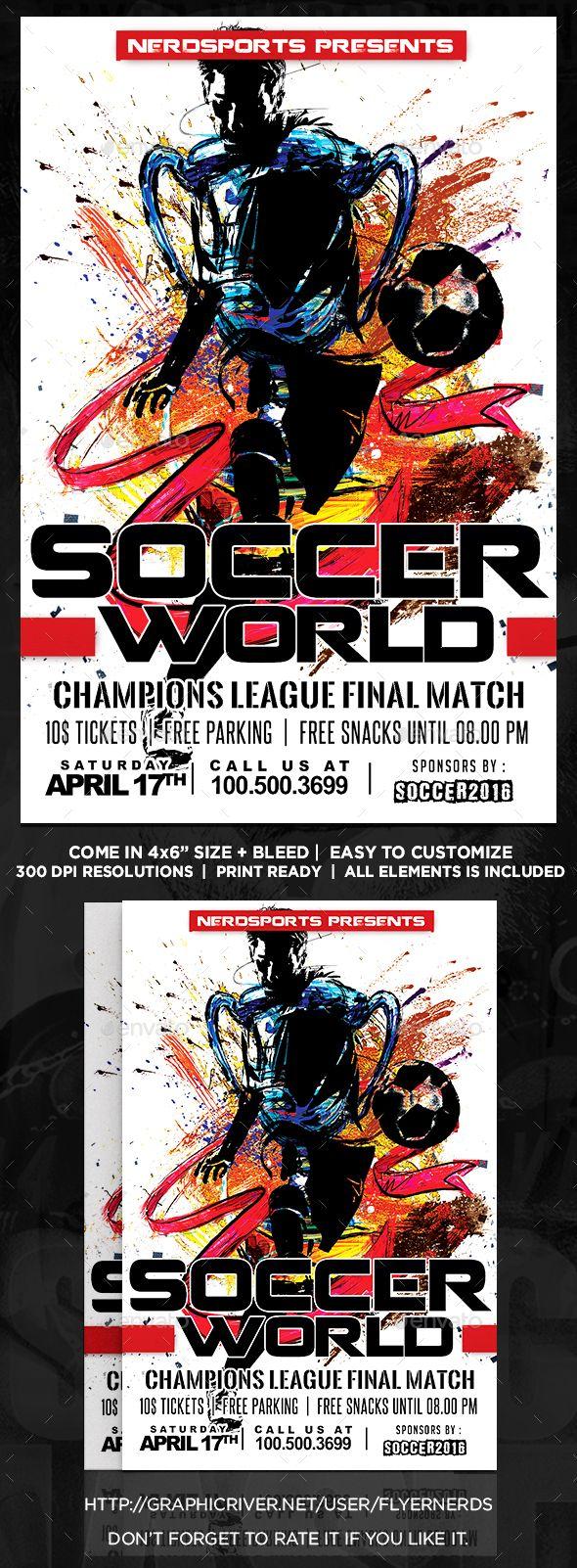 World of Soccer Championships Sports Flyer