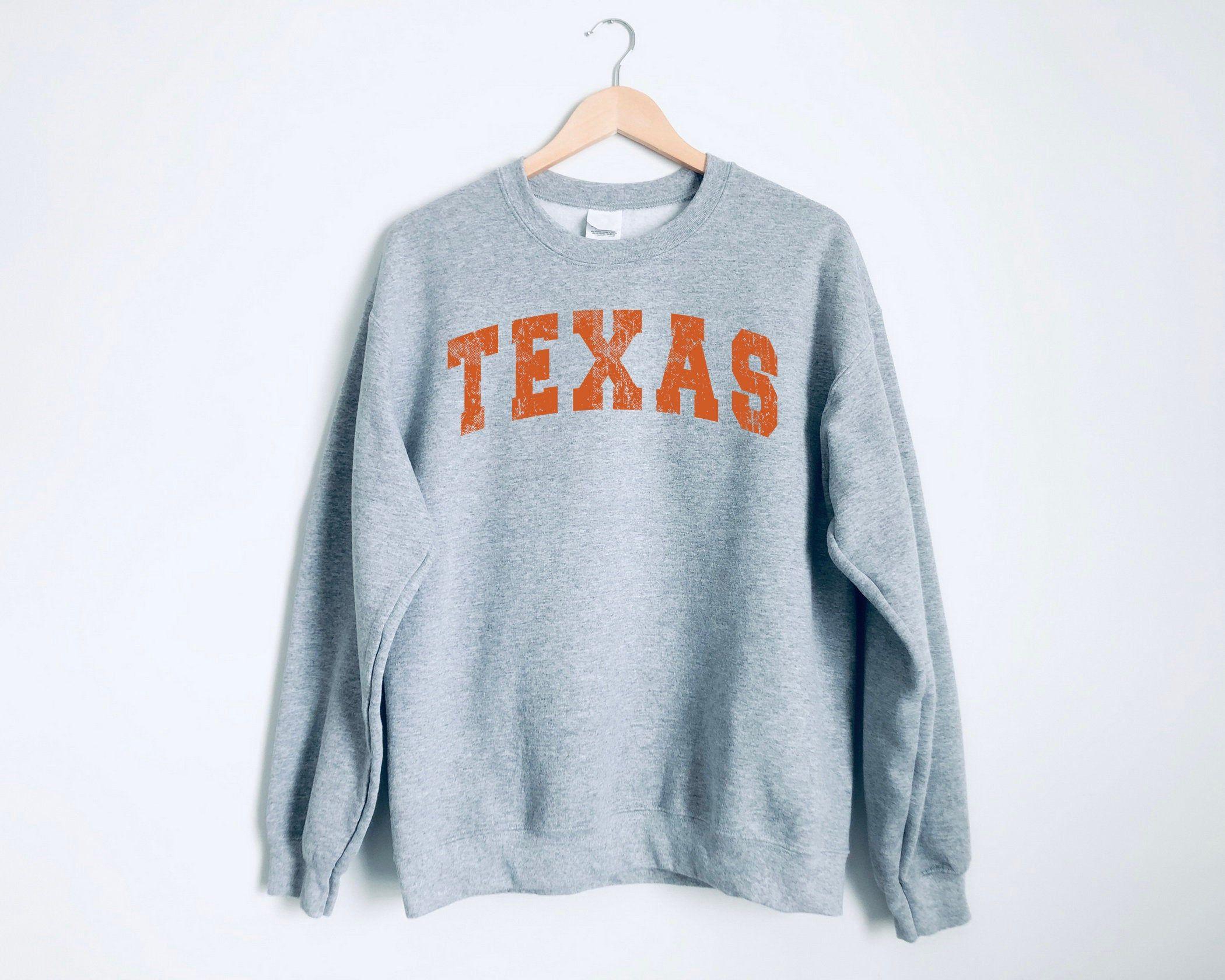 Texas Crewneck Sweatshirt Texas Sweatshirt Texas Football Etsy Sweatshirts Vintage Crewneck Sweatshirt Crew Neck Sweatshirt [ 1680 x 2100 Pixel ]
