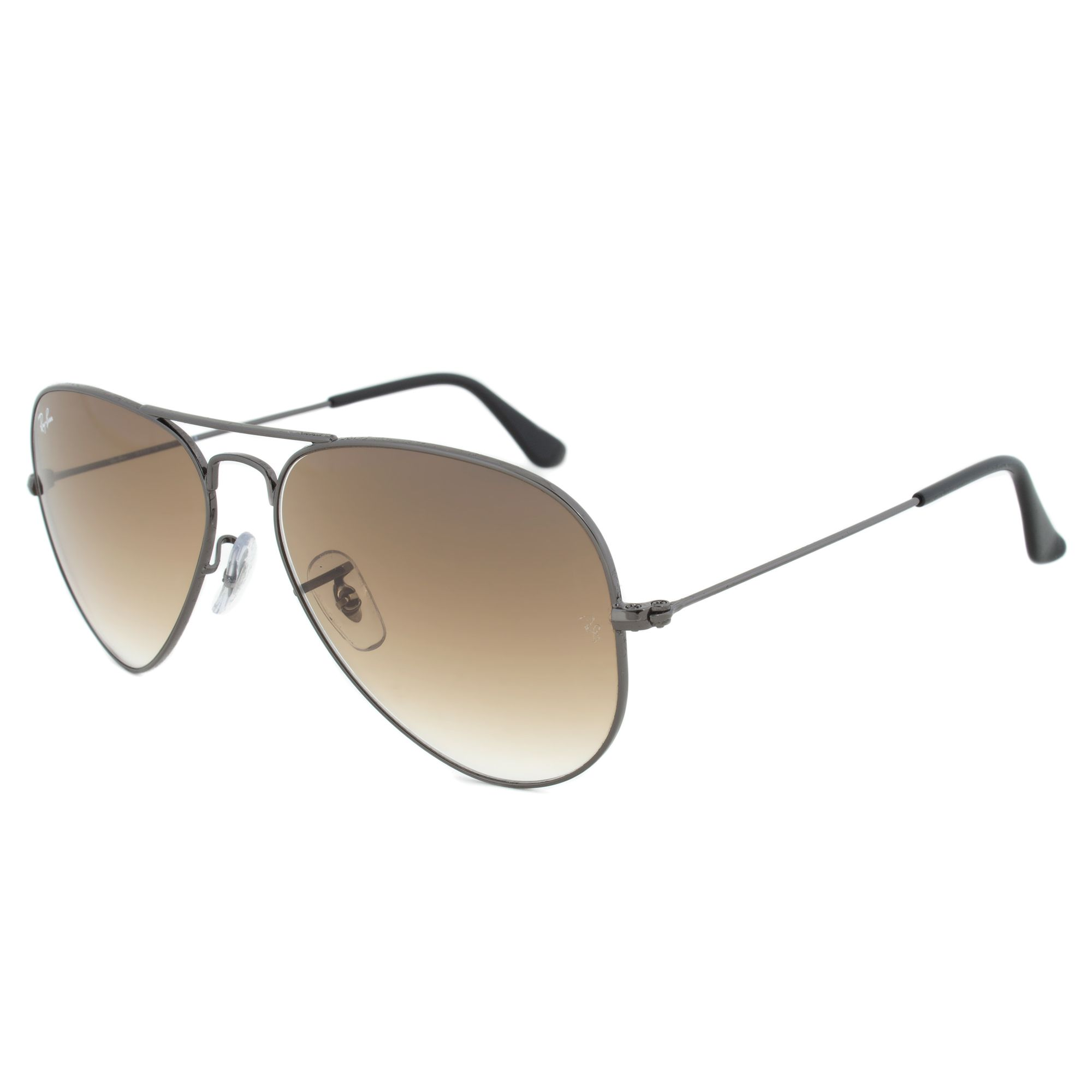 7ba9424242 Ray-Ban RB3025 004 51 Size 58 Brown Gradient Lens Gunmetal Frame Aviator  Sunglasses