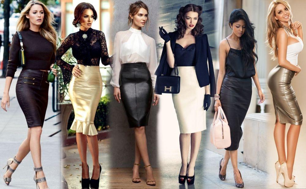 С чем носить черную юбку карандаш летом