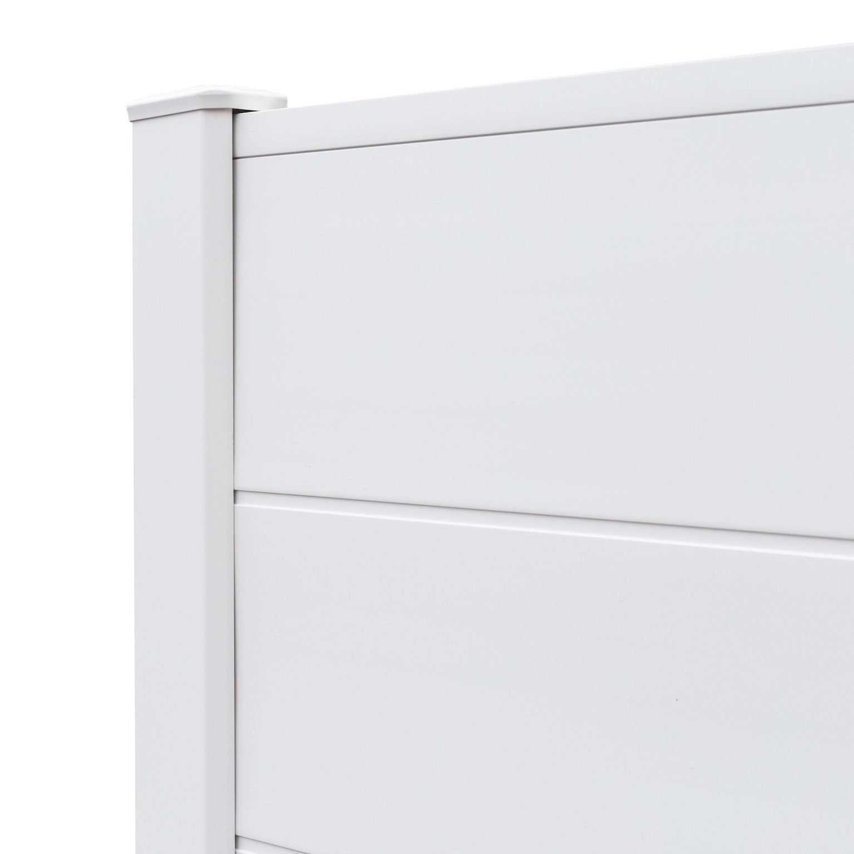 Lame Persiennee Pvc A Emboiter Clea Blanc L 150 X H 20 Cm X Ep 2 4 Mm Pvc Poteau Blanc