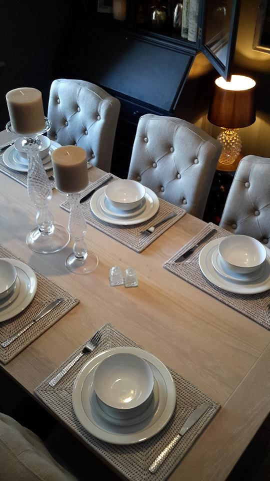 Denby Natural Canvas Crockery Neptune Candles And Holders Placemats Harrogate Dining Table And Sheldrake Millet Dining Ch Dining Table Dining Chairs Dining