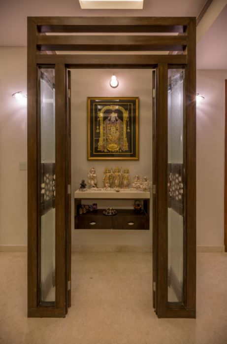 Latest pooja room designs for indian homes home makeover - Pooja mandir door designs for home ...
