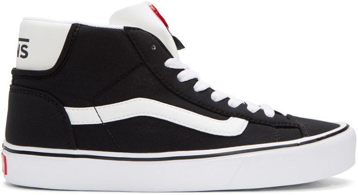 Authentic Store Men's Black Schoeller Edition Mid Skool Lite Lx Sneakers mens black Vans Mens sneakers