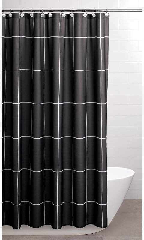 Wesley Single Shower Curtain In 2019 Shower Curtain Sets Black White Shower Curtain 96 Inch Shower Curtain
