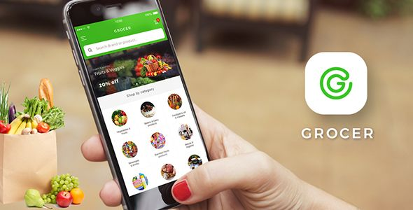 Grocery Android App + Grocery iOS App Template (HTML + CSS files in
