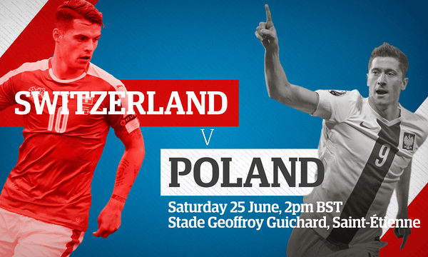 Switzerland v Poland: Euro 2016  live!