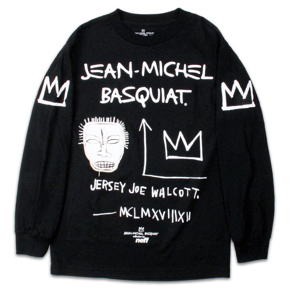 6c3b2a018331 NEFF x JEAN MICHEL BASQUIAT JMB JERSEY JOE Long Sleeve Tee Black T-Shirt  Supreme #Neff #GraphicTee