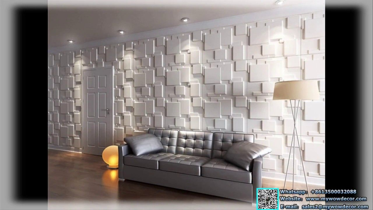 Home Decoration Waterproof Soundproof 3d Pvc Wall Panel In Cei