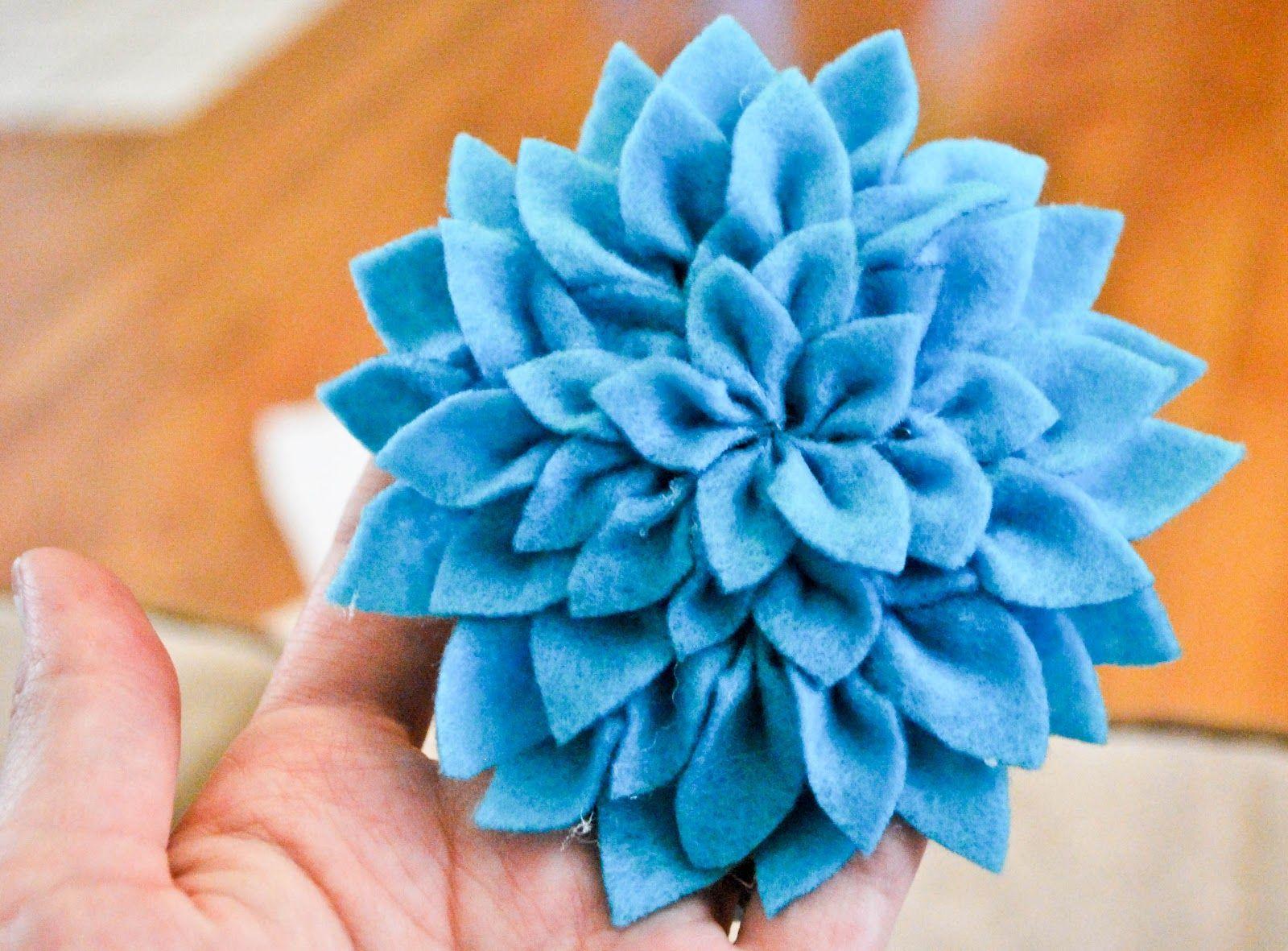Felt Dahlia Bows Flowers Crafty Creations Pinterest Dahlia