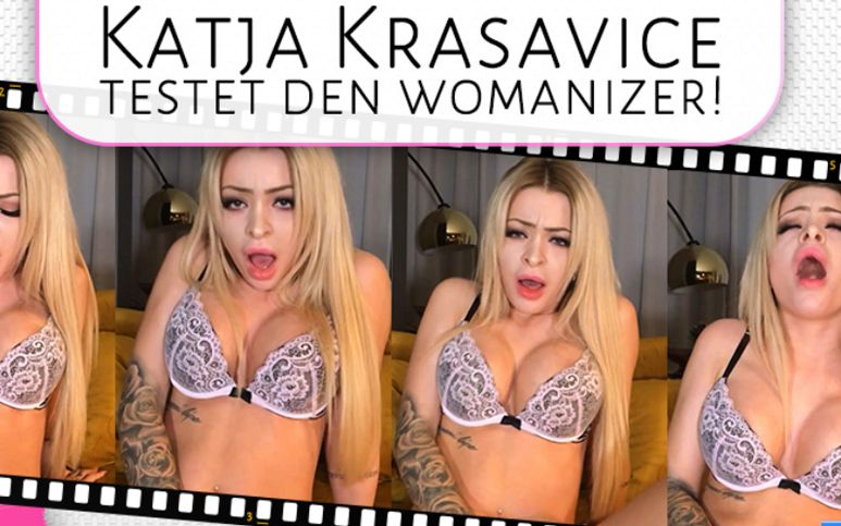 Katja krasavice testet den womanizer