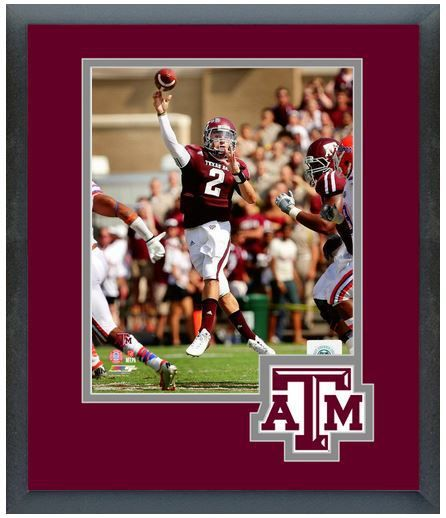 Johnny Manziel Texas A&M Aggies 2012 -11 x 14 Matted/Framed Photo