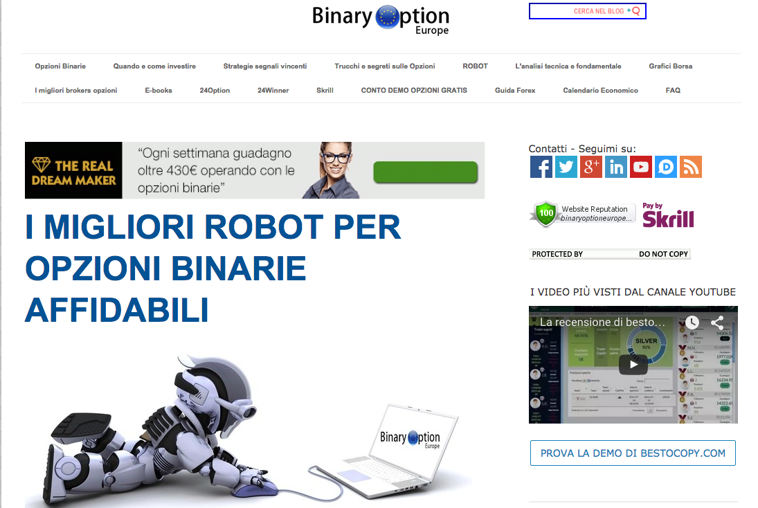 What is binary options robot apk