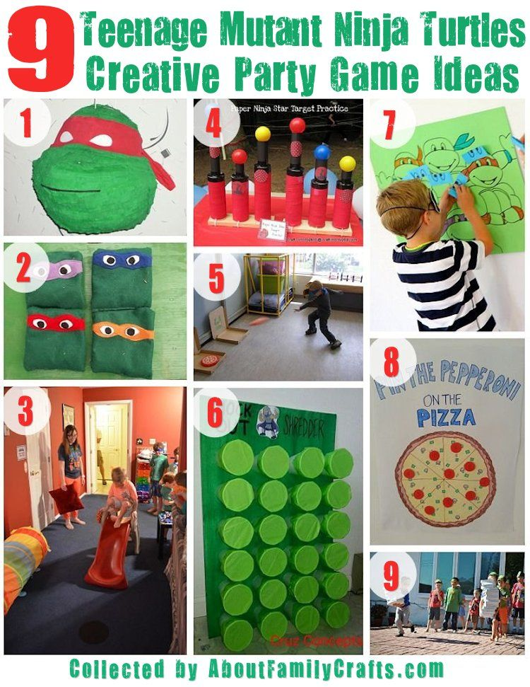 9 Creative Tmnt Party Games Ninja Turtles Birthday Party Tmnt Birthday Party Ideas Turtle Birthday Parties