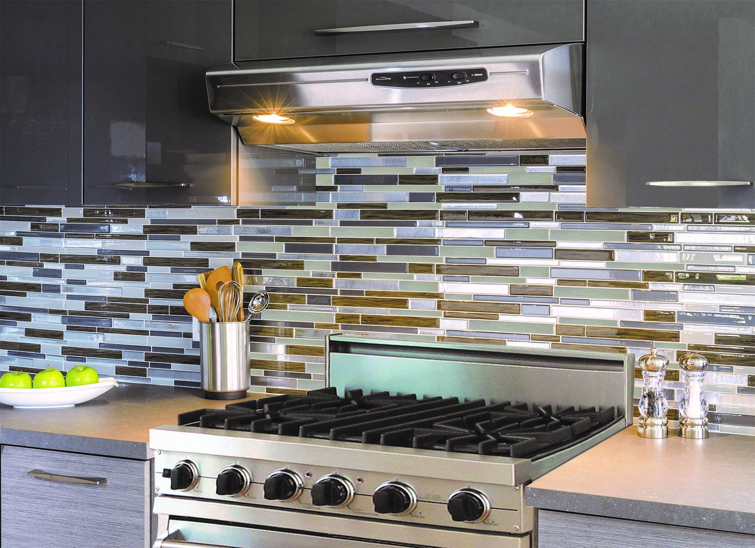 Mobili Argento ~ Milano argento smart tiles dual finish looks and feels like