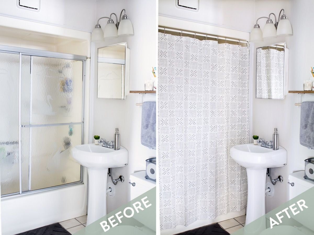 10 Ways to Love Your Rental Bathroom | Shower doors, Apartments and ...