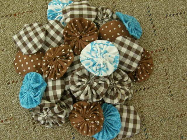 "'2"" YoYo's  Brown, Turquoise  Polka Dots and more' is going up for auction at 10am Sun, Jun 17 with a starting bid of $4."