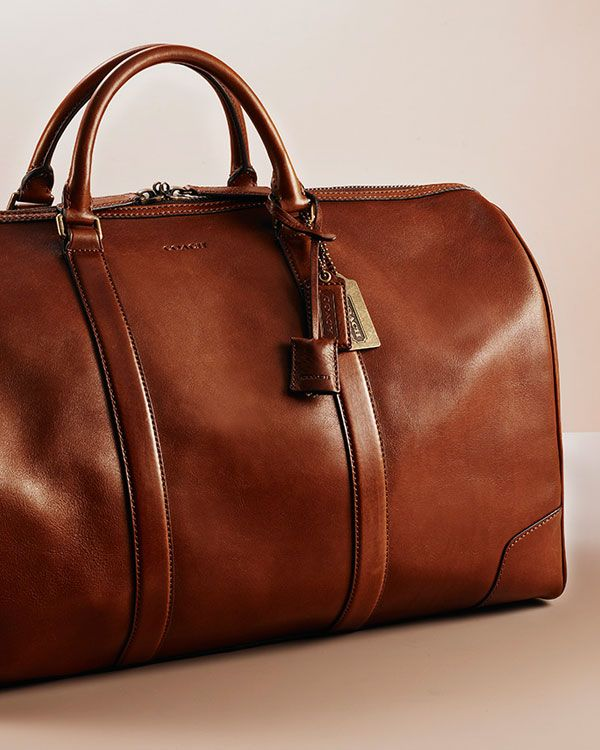 Shop men's travel accessories at Coach.com | Leather travel bag, Leather duffle  bag, Leather duffle