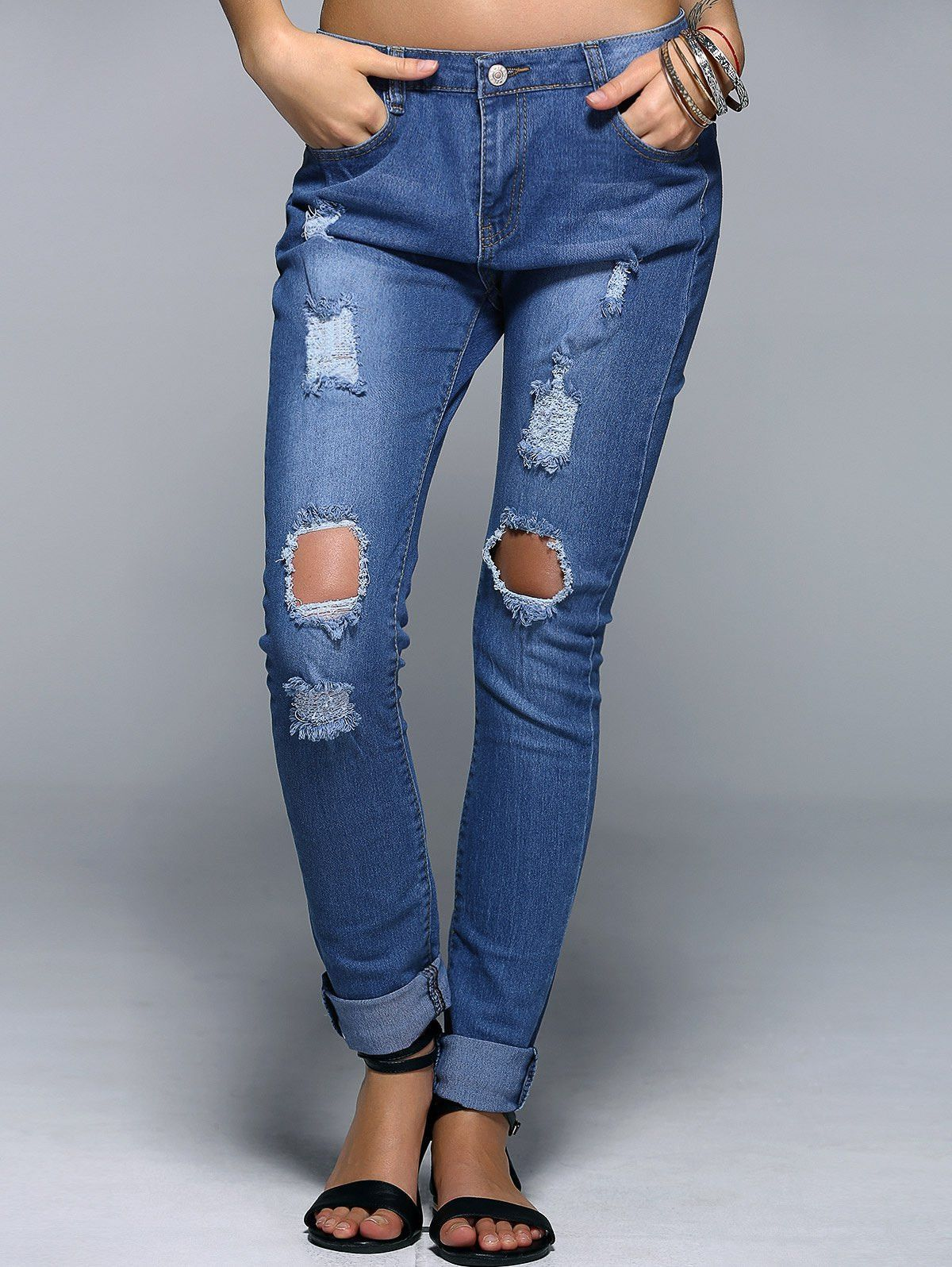 Carina Boyfriend Style Rippped Jeans