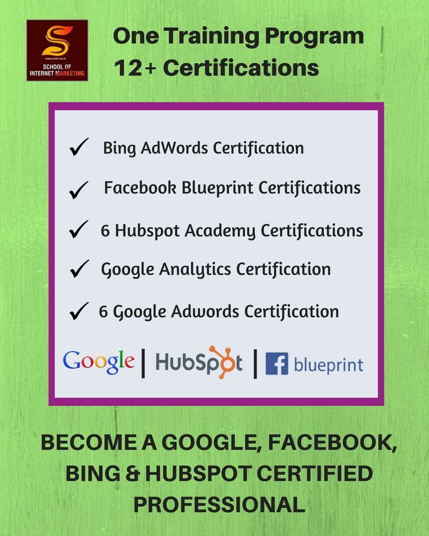 Become A Google, Facebook, Bing & HubSpot Certified