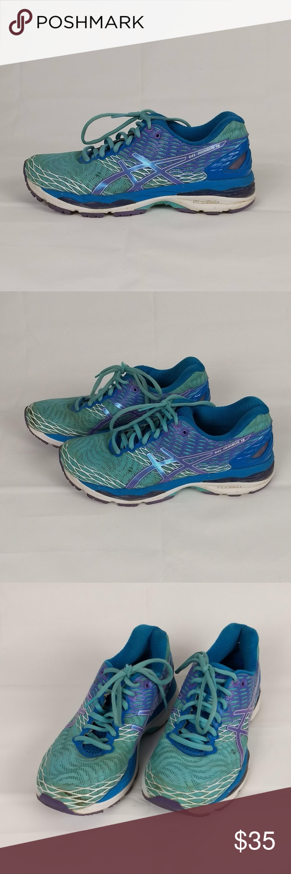 c7b0cec92a7 Asics Gel Nimbus 18 D Running Shoes Womens Size 8 Asics Gel Nimbus ...