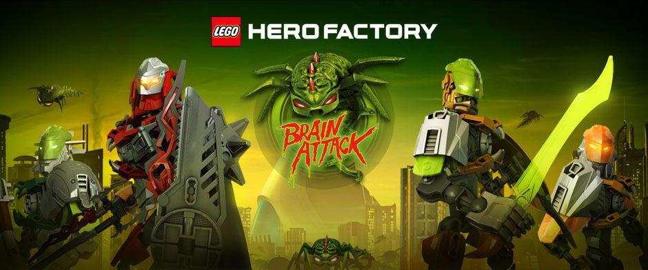 Lego Hero Factory Brain Attack Banner Lego Hero Factory Brain